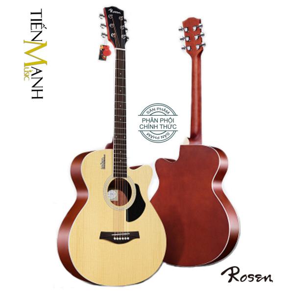 Đàn Guitar Acoustic Rosen G11, G12, G13, G15 - Hãng phân phối chính thức - Bảo trì trọn đời - Ghita Gỗ Vân Sam nguyên tấm