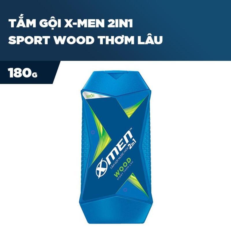 X Men -   Tắm Gội Nước Hoa X-Men 2in1 Wood 180g  - Giá Sỉ