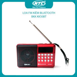 [HCM]Loa đài FM đa năng BKK model KK50BT hỗ trợ bluetooth thẻ nhớ USB Tai nghe Đèn pin - dùng pin rời 18650 (Đen đỏ) Nhất Tín Computer thumbnail