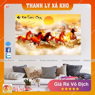 Tranh Dán Tường 3D Mã Đáo Thành Công - S7- Tranh 3D Phong Thủy - Giấy dán tường 3d - Song Long Decor thumbnail