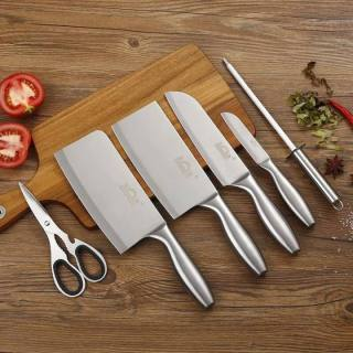 [ SIÊU HÓT ] Bộ dao, Bộ dao Nhật Bản Seki 5 món làm từ thép không gỉ ( có kệ để dao), lưỡi dao sắc bén, tay cầm thông minh , dao chặt xương, dao thái, kéo, dụng cụ mài dao... Bảo hành 12 tháng ,Lỗi 1 Đổi 1. thumbnail