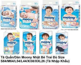 1 Gói Tã Dán Moony Nhật Đủ Size NB90 S84 M64 L54 (Tặng Quà) thumbnail