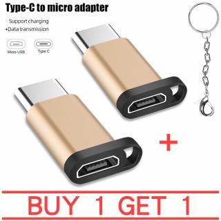 Mua 1 tặng 1 Đầu chuyển Jack chuyển adapter chuyển USB Type C Sang Micro USB OTG - Thế hệ Mới Cho Máy Tính Bảng và SmartPhone Đầu Chuyển Đổi Từ MICRO USB sang TYPE C có hỗ trợ OTG thumbnail