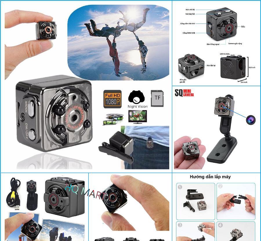 [ Tặng thẻ nhớ 32G trị giá 199.000 ]  Camera mini siêu nhỏ SQ8 HD1080P hình ảnh rõ nét Quay cả ban ngày và ban đêm - camera hành trình siêu nhỏ - camera ô tô  (camera Hành trình và kiêm camera an ninh)