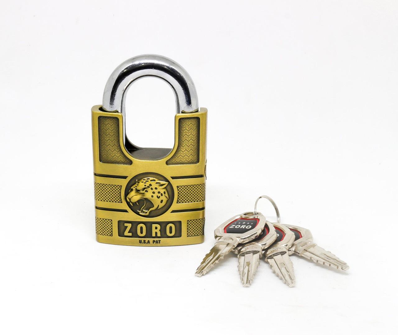 Ổ Khóa bấm Chống Cắt ZORO 6cm chìa kiếm