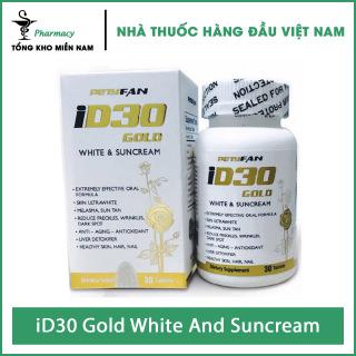 Viên Uống iD30 Gold White And Suncream - Hỗ Trợ Trắng Da Và Chống Nắng - Hộp 30 viên - Tổng Kho MiềnNam thumbnail