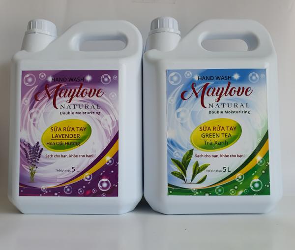 Combo 2 Can Sữa Rữa Tay Maylove Greentea 5 lít và Lavender 5L giá rẻ