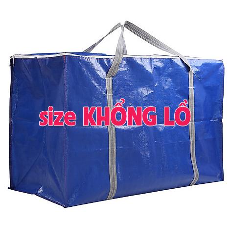 [HCM]Đủ Size - Túi Bạt Túi Dứa Có Dây Kéo Đựng Đồ - Màu Xanh Cam (May Từ Vải Bạt  Tú Phương)