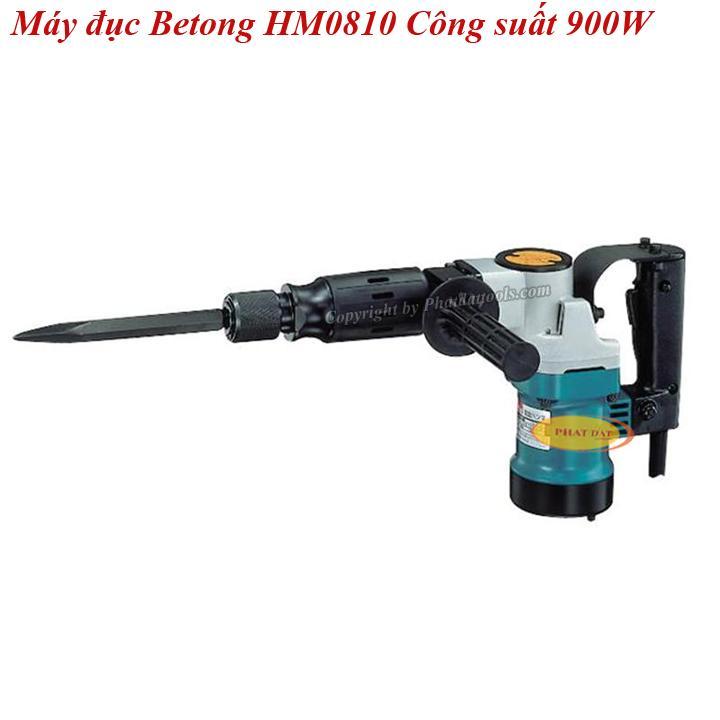 Máy Đục Bêtông Cầm Tay Mũi 17 Ly HM0810 Công Suất 900W-Kèm 2 Mũi Đục-BH 6 Tháng