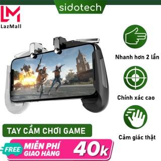Tay cầm chơi gane nút bắn PUBG FreeFire ROS Sidotech AK16 kết nối 4 ngón linh hoạt và 2 nút bắn PUGB vật lý thuộc dòng tay cầm chơi game máy chơi gamer cầm tay bắn pubg tương thích điện Thoại Iphone Oppo Samsung thumbnail