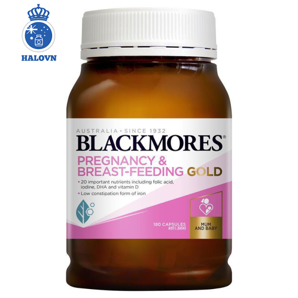 Blackmores Pregnancy And Breast Feeding Gold 180v - Vitamin tổng hợp cho bà bầu Blackmore Úc - Haloco VN