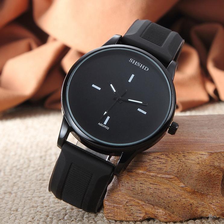Đồng hồ thời trang nam nữ Harajuki màu đen sang trọng bán chạy