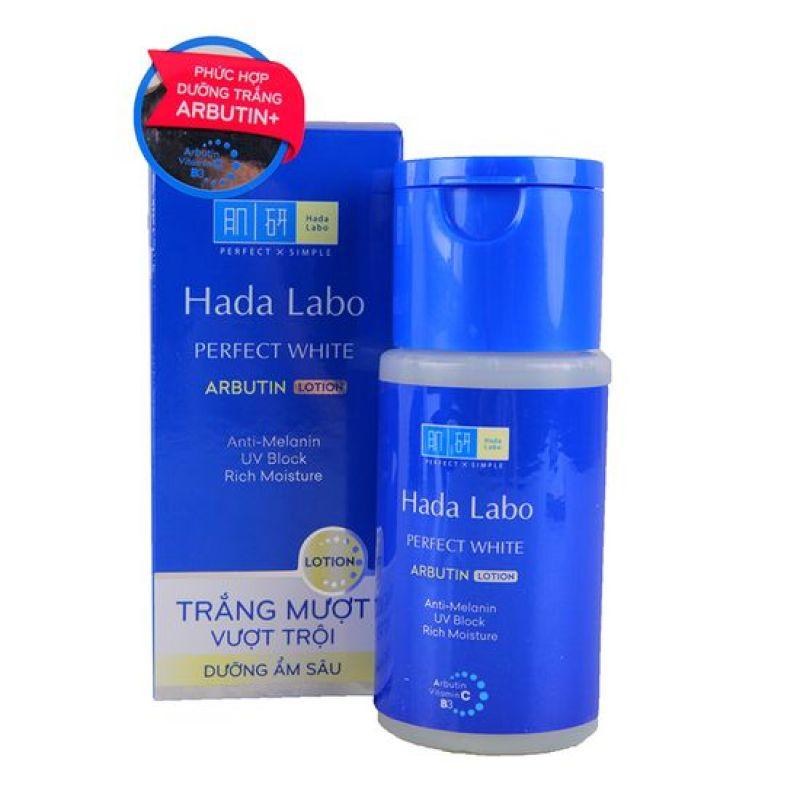 Lotion dưỡng trắng da, giữ ẩm tối ưu, chống nắng Hada Labo Perfect White