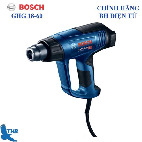 Máy thổi hơi nóng. Máy khò nhiệt Bosch chính hãng GHG 18-60 ( Bảo hành điện tử 6 tháng, Hoạt động mạnh mẽ, bền bỉ)