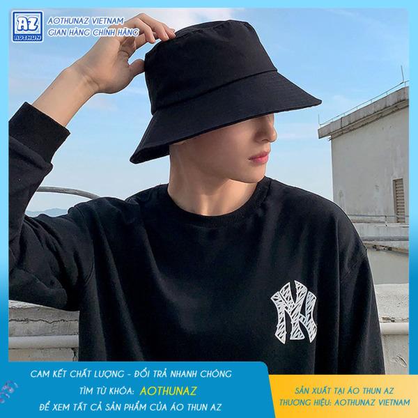 Phụ kiện thời trang AOTHUNAZ - Mũ Bucket nam nữ màu đen trơn cá tính
