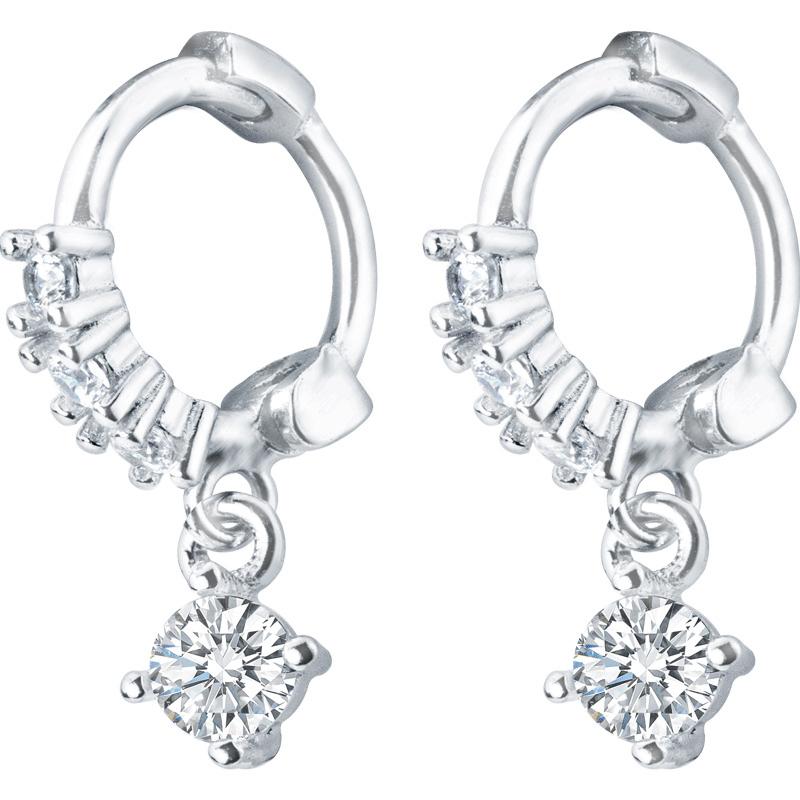 Bông Tai | Bông Tai Nữ Dáng Tròn Hàn Quốc Siêu Xinh | Bông Tai Nữ Bạc Thật - Bảo Ngọc Jewelry