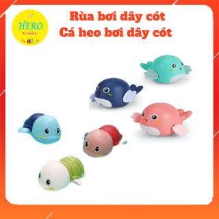 [HCM]Đồ chơi rùa cá heo bơi bằng dây cót thả bồn thau tắm cho bé 3 màu siêu đáng yêu thumbnail