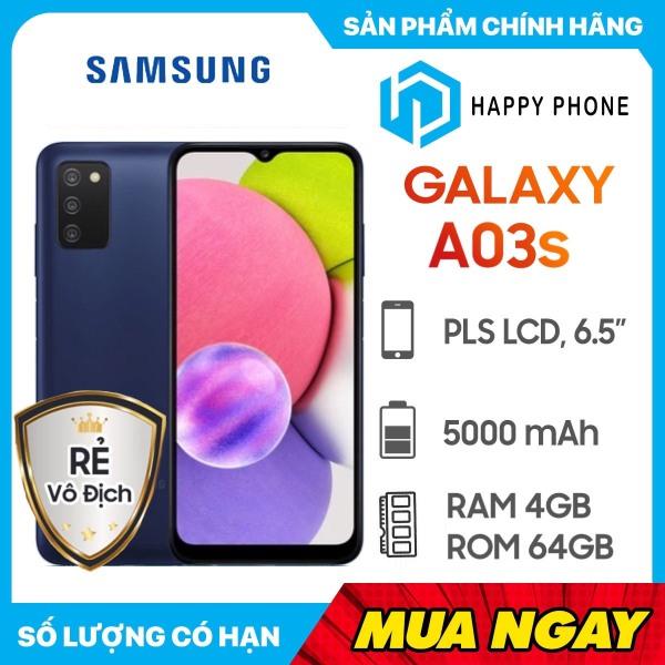 Điện thoại Samsung Galaxy A03s (4GB/64GB) - Hàng Chính Hãng, Mới 100%, Nguyên Seal, Bảo hành 12 tháng