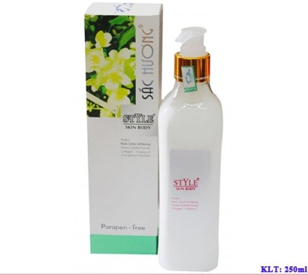 Kem dưỡng trắng da Body trắng nhanh không bết dính làm trắng giữ ẩm làm mịn da toàn thân KEM BODY SẮC HƯƠNG STYLE (250ml)