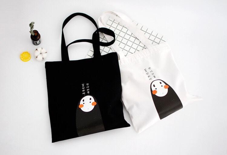 Túi tote canvas đeo vai thời trang Hàn Quốc -TT14 - Con Ma- The Hills