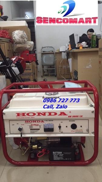 Máy phát điện chạy xăng Honda SH3500EX đề, giật tay phụ, le gió tự động