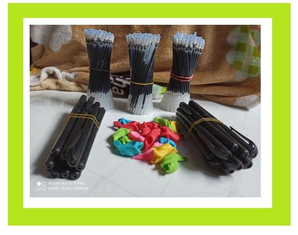 Mua Combo 30 ruột bút mực tự bay màu có nắp từng ruột, dùng luyện viết, luyện chữ Hoa Nhật Hàn nhanh trôi sau 5 phút.( 30 ngòi, 2 bút. 2 đệm tay)