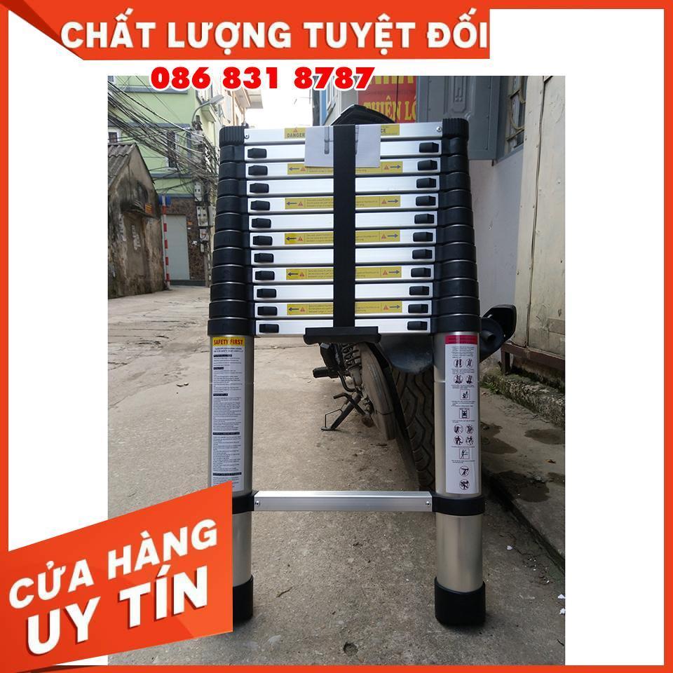 [ BH 24 Tháng ] Thang nhôm rút đơn 4m1 + Tặng kèm 2 chốt dự phòng