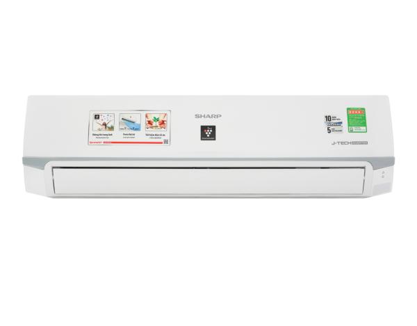Bảng giá Máy lạnh Sharp Inverter 2 HP AH-XP18WMW - Công suất làm lạnh 18.000 BTU, Chế độ làm lạnh nhanh Powerful Jet, Từ 20 - 30 m2, Chế độ Breeze (gió tự nhiên) Phát ion lọc không khí Có tự điều chỉnh nhiệt độ