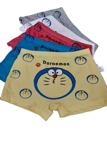 Voucher Khuyến Mại Quần Chip đùi Bé Trai- Quần Bơi Bé Trai - In Hình đoremon - Heo Peppa -  Com Bo 5 Cái Từ 5- 40kg-quần Chip Cotton Bé Trai