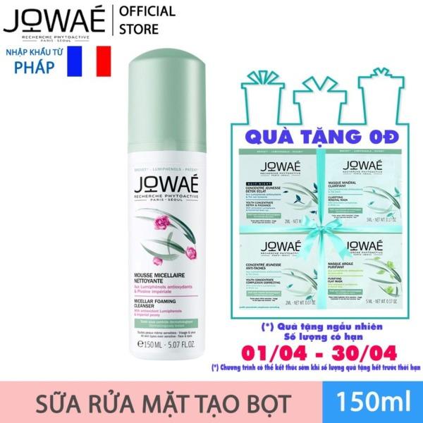 Sữa rửa mặt tạo bọt JOWAE loại bỏ chất bẩn làm sạch da Mỹ phẩm thiên nhiên nhập khẩu Pháp Micellar Foaming Cleanser 150ml cao cấp
