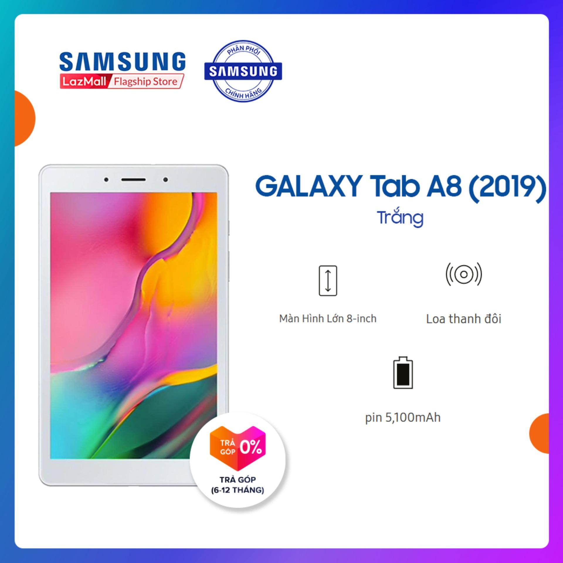 Offer Khuyến Mãi Máy Tính Bảng Galaxy Tab A SM-T295 32GB (2GB RAM) 2019 - Màn Hình 8 Inch, Tỷ Lệ 16:10 Full HD + Trọng Lượng Chỉ 347g Mỏng Nhẹ + Hỗ Trợ Thẻ Nhớ đến 512GB + Pin 5100 MAh - Hàng Phân Phối Chính Hãng.