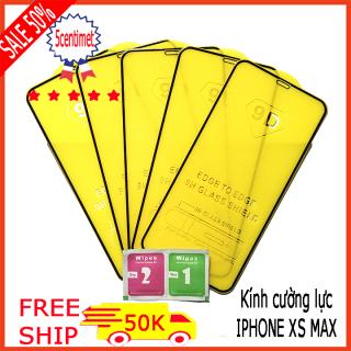 Kính cường lực IPHONE XS MAX ,Kính cường lực FULL màn hình , Tặng kèm giấy lau ướt và giấy lau khô 5CENTIMET thumbnail