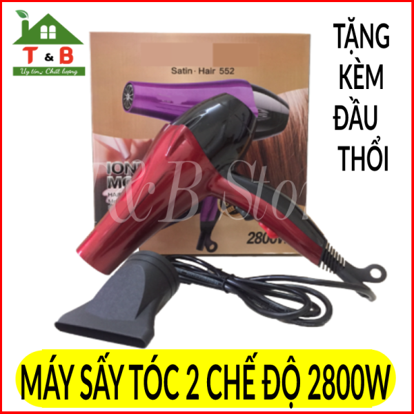 Máy sấy tóc 2 chiều nóng lạnh công suất 2800W , Thiết kế  2 chế độ sấy cùng đầu thổi chuyên nghiệp , Kích thước máy nhỏ gọn, dễ cầm và mang đi