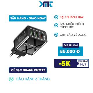 Củ sạc Nhanh Piman chuẩn quick charge 3.0 18W - Củ sạc tích hợp mọi loại thiết bị và điện thoại KMT212 thumbnail