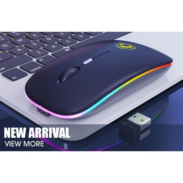 Bảng giá CHUỘT K DÂY Bluetooh 5.1/ wireless 2.4Ghz IMICE E-1300 Pin Sạc (Có Công Tắc) - LED RGB Phong Vũ