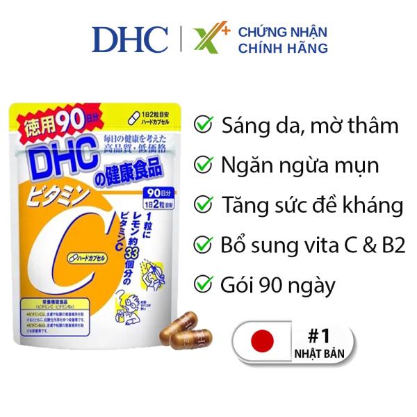 Viên uống Vitamin C DHC Nhật Bản thực phẩm chức năng giúp tăng cường đề kháng, sáng da, mờ thâm & tăng sản sinh collagen 90 ngày XP-DHC-C90