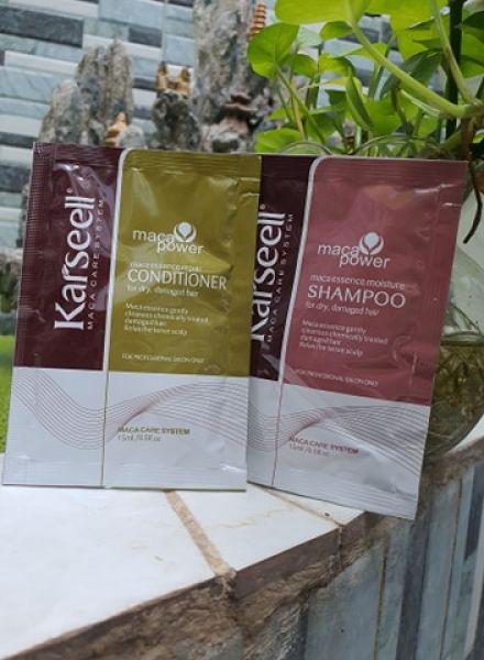 Combo 5 cặp gội xả gói Karseell Maca Collagen siêu mềm mượt 15mlx2 giá rẻ