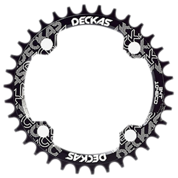 Phân phối Deckas 104BCD Oval Narrow Wide Chainring MTB Mountain Bike Bicycle 32T Crankset Single Tooth Plate Parts 104 BCD Black