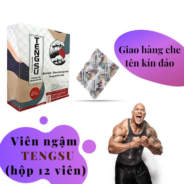 Viên ngậm TENGSU cao cấp tăng cường sinh lý nam mạnh mẽ (hộp 12 viên) - hàng chính hãng nhập khẩu