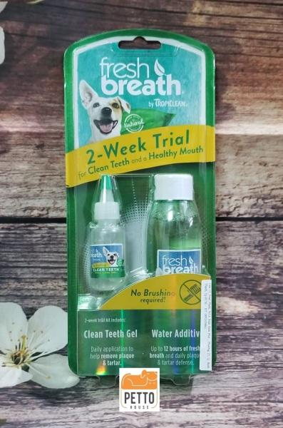 Bộ Mini Kit vệ sinh răng miệng cho chó Tropiclean Fresh breath 2-week trial