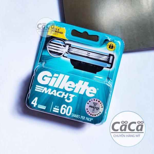 [Chính hãng] Hộp Lưỡi dao cạo râu Gillette Mach3 Classic vỉ 4 cái mẫu mới - Mach 3 Basic cao cấp giá rẻ