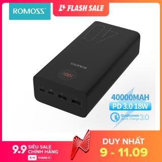 Romoss Zeus 40000mAh ngân hàng điện 18 Wát PD QC 3.0 Hai chiều sạc nhanh Powerbank Type-C External Battery Charger cho iPhone Xiaomi Huawei thumbnail