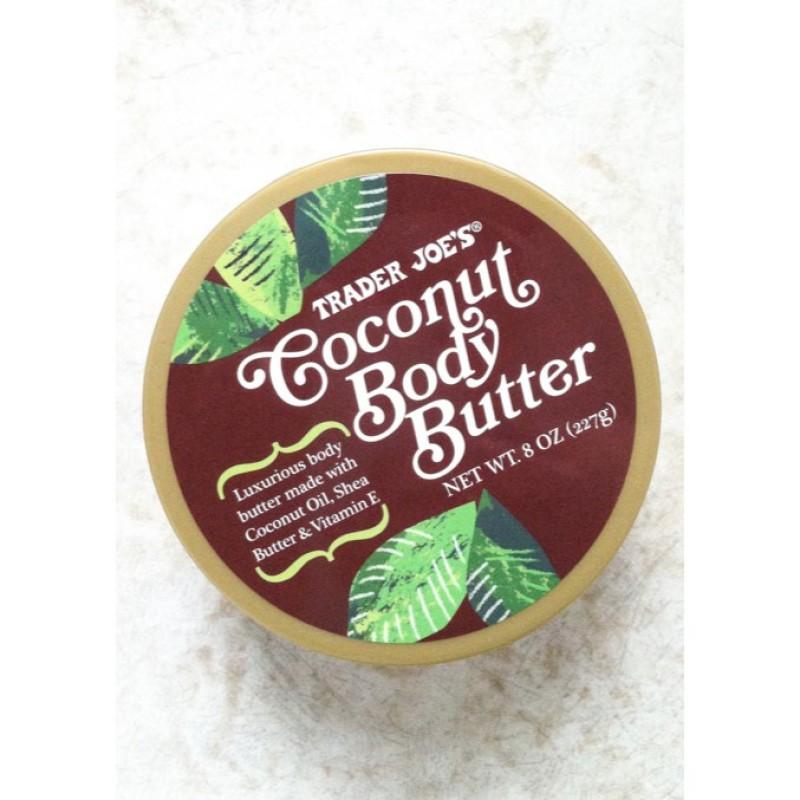 Bơ dưỡng thể Trader Joes coconut body butter cream 227g hương dừa