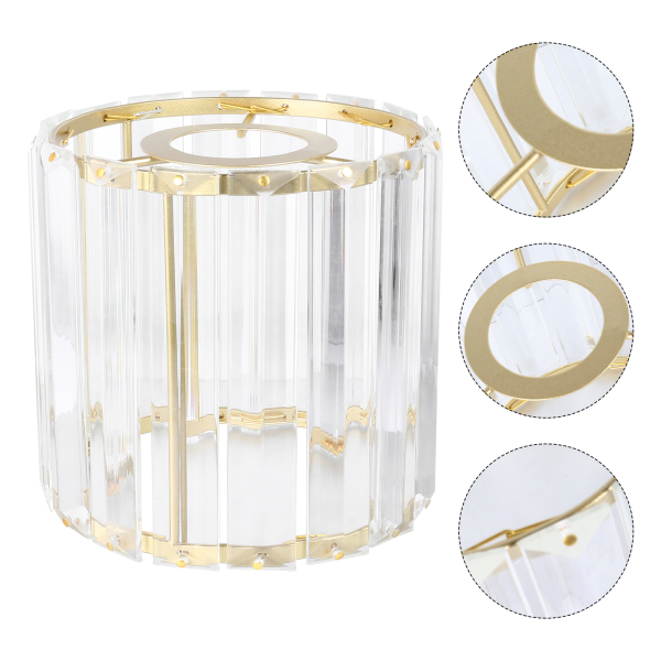 Ouruola【Ready Stock】Crystal Lampshade Ceiling Light Cover Chic Lamp Cover Light Shade For Home