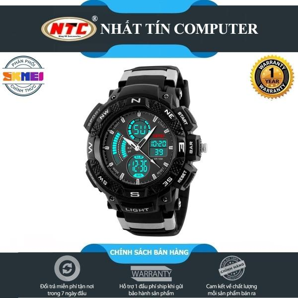 Đồng hồ thể thao nam SKMEI 1211 (dây khớp nhựa chạy kim và điện tử chống nước 5ATM) - Nhất Tín Computer