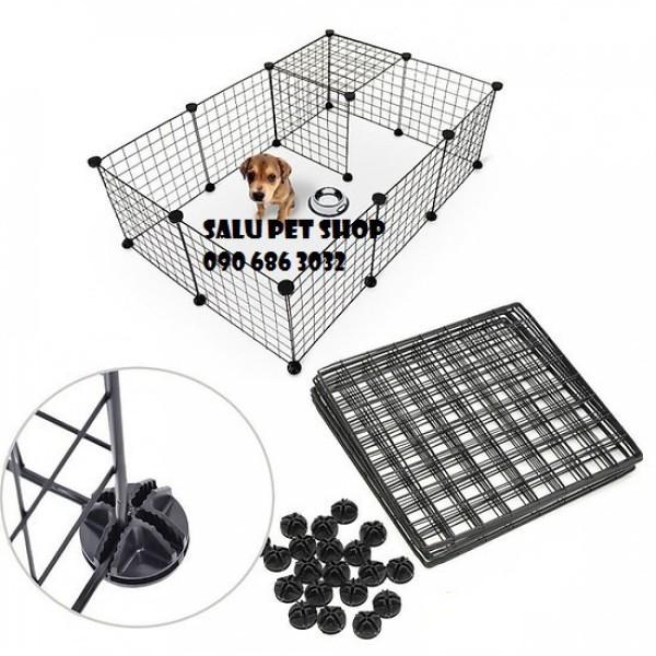 Tấm lưới ghép chuồng quây cho chó mèo thú cưng - tặng kèm chốt nối, đảm bảo dưỡng chất phát triển và cực kì an toàn, dinh dưỡng tốt cho sức khỏe của thú cưng