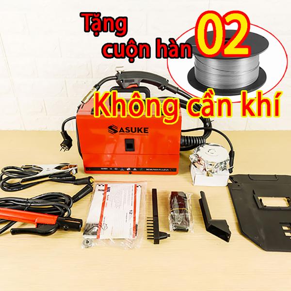 Máy hàn Mig SASUKE 200 tặng kèm 2 cuộn hàn không cần khí - mini không dùng khí 3 chức năng --Bảo hành 12 tháng