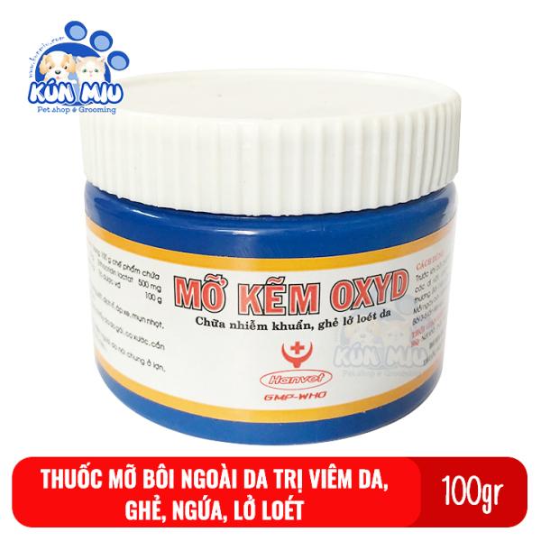 Mỡ bôi vết thương ngoài da, ghẻ ngứa, nhiễm khuẩn cho chó mèo Mỡ Kẽm Oxyd 100g