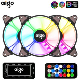 Aigo AR12 Quạt Máy Tính Pc 120Mm Quạt Tản Nhiệt RGB Aura Sync Cổng Sata 12Cm Quạt Làm Mát Không Ồn Argb Quạt Thông Gió Làm Mát thumbnail