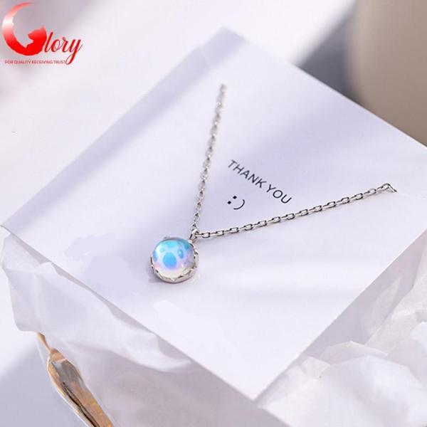 Dây chuyền nữ bạc Ý S925 mặt ngọc biển xanh lấp lánh thời trang cao cấp đẹp cho phái nữ G297538-2